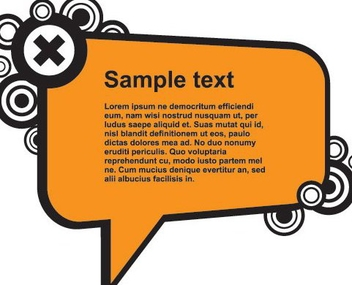 Comment Box Circles Banner - Free vector #333067
