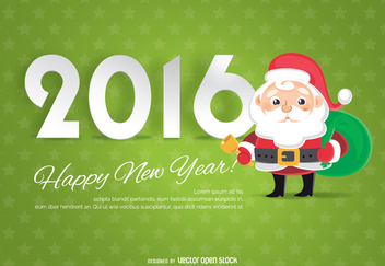Christmas 2016 background with Santa - Free vector #333077