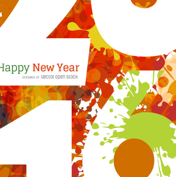 2016 New Year macro shot - vector gratuit #333097
