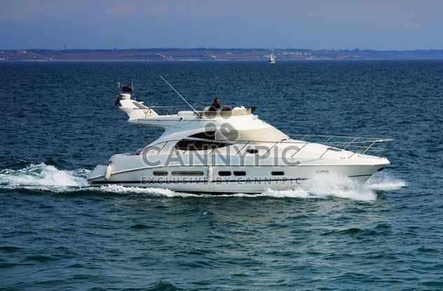 white yacht on a blue sea - Free image #333267