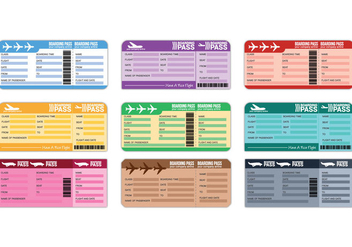 Airline Ticket Vector - vector #333307 gratis