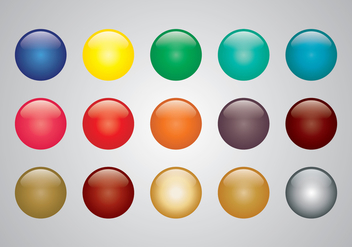 Glossy colored sphere vectors - Free vector #333427