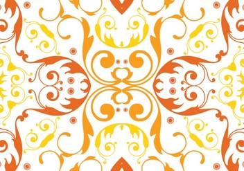 Orange floral pattern vector - Free vector #333437