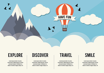 Free Hot Air Balloon Background - Kostenloses vector #333467