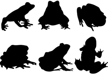 Free Frog Silhouette Vector - Kostenloses vector #333477