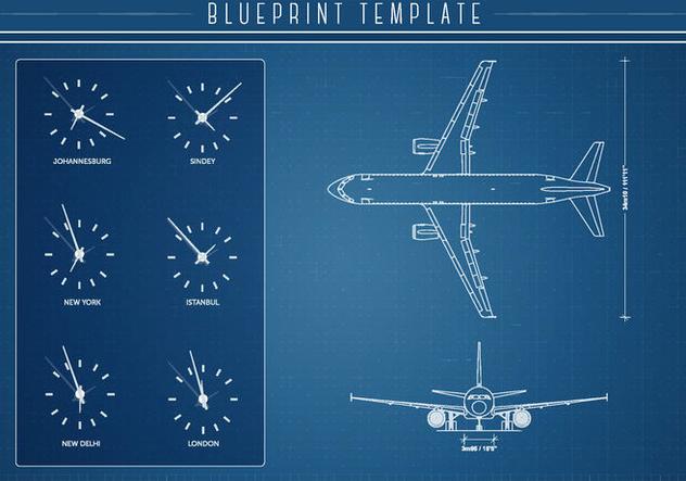 Free Airlplane Blueprint Vector - Free vector #333517