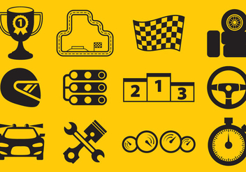 Vector Racing Icons - Free vector #333947