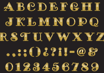 Old Style Gold Type - Kostenloses vector #333957