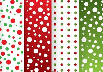 Red And Green Dot Pattern - Kostenloses vector #334117