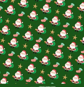 Christmas Santa Claus texture - vector gratuit #334357