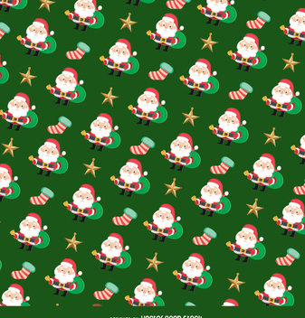 Christmas Santa Claus texture - Free vector #334357
