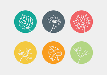 Vector Leave Icon Set - Kostenloses vector #334397