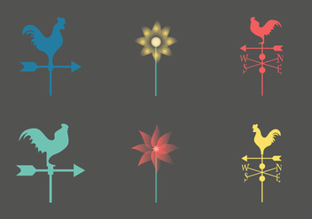 Free weather vane vector Icon - Free vector #334407