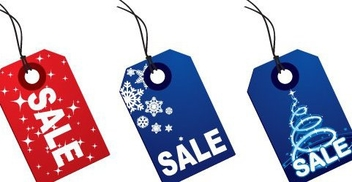 Colorful Christmas Sale Tags - Free vector #334457