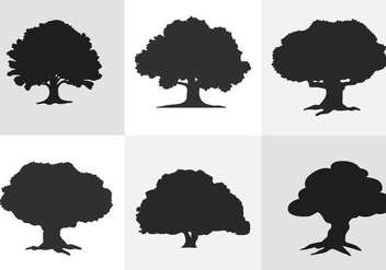 Oak Tree Silhouette - vector gratuit #334627