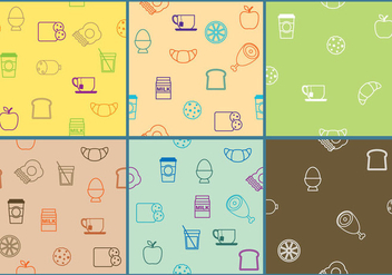 Breakfast Patterns - vector gratuit #334637
