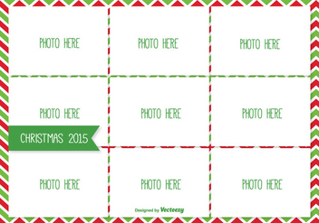 Christmas Photo Collage Template - vector gratuit #334887