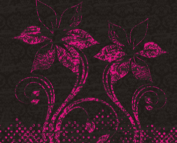 Grungy Flower Decoration Floral Pattern - vector gratuit #334917