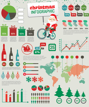Christmas Infographic elements - Free vector #334937