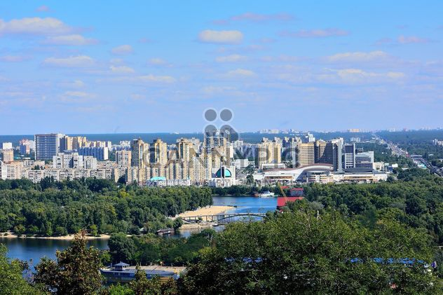 The views of the Dnipro and left shore of Kiev - бесплатный image #335077