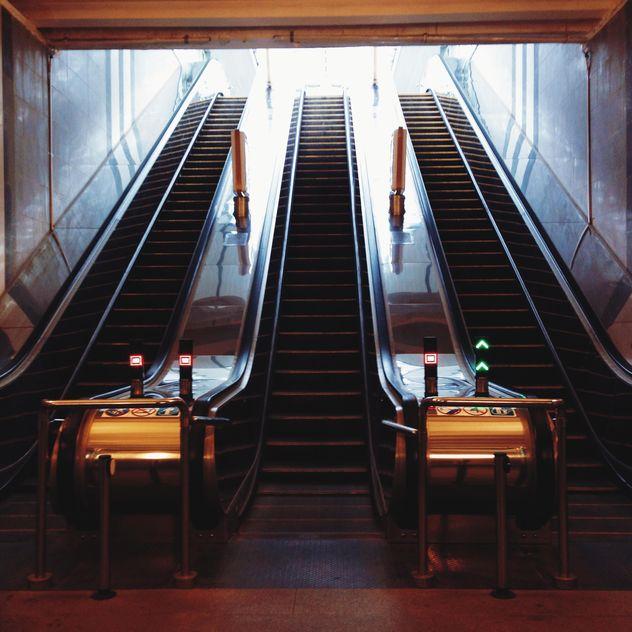 escalator in metro station - Free image #335107
