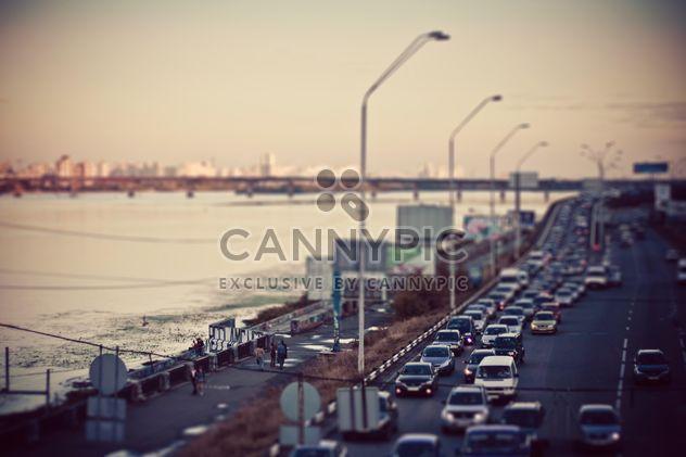 Pôr do sol na estrada perto do rio Dnipro - Free image #335127