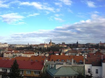 Prague from height in winter - бесплатный image #335137