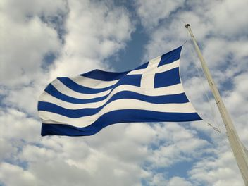 National Flag of Greece flying in sky - Free image #335227