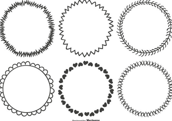 Cute Hand Drawn Frame Set - Free vector #335337