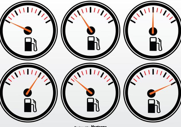 Fuel Gauge Vector Set - Free vector #335347