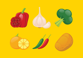 Vector Vegetables Illustration Set - бесплатный vector #335387