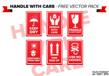 Handle With Care Free Vector Pack - Kostenloses vector #335577