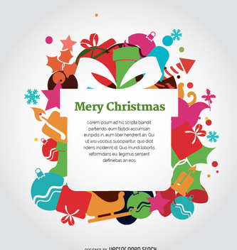 Christmas colorful design - vector gratuit #335697