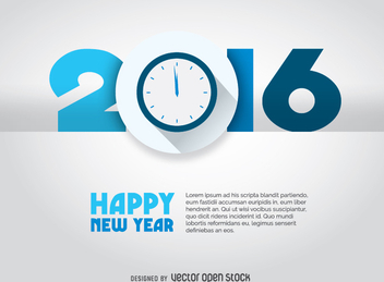 2016 countdown concept - Free vector #335707