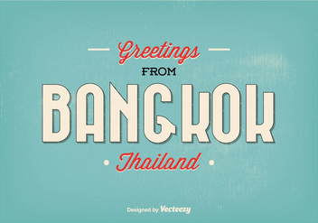 Bangkok Greeting Illustration - бесплатный vector #335737