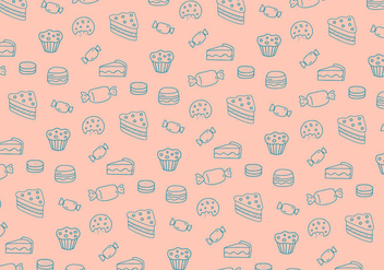 Sweets pattern background - vector #335747 gratis