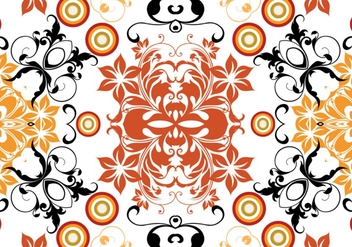 Target Floral Pattern Vector - Free vector #335807