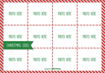 Christmas Photo Collage Mockup - vector gratuit #335827
