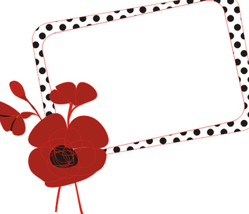 Dotted Frame Floral Banner - Free vector #335917