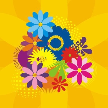 Colorful Flower Background - Kostenloses vector #335927