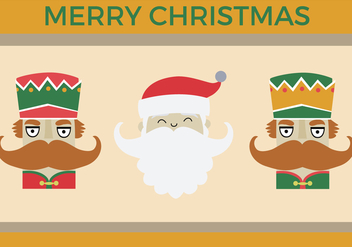 Free Nutcracker Santa Vector - Free vector #336037