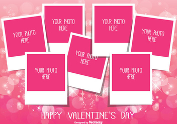 Valentine's Day Photo Collage Template - бесплатный vector #336177