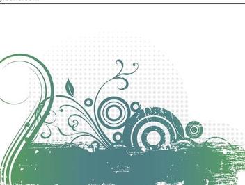 Splashed Grungy Swirls Halftones - Kostenloses vector #336377