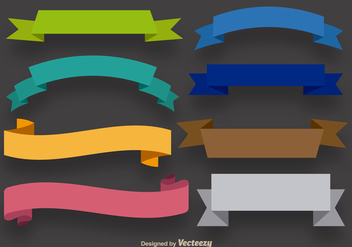 Colorful ribbons set - Free vector #336497