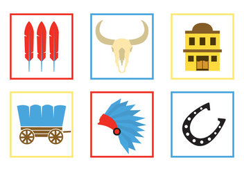 Wild West Vector Icons - Free vector #336597