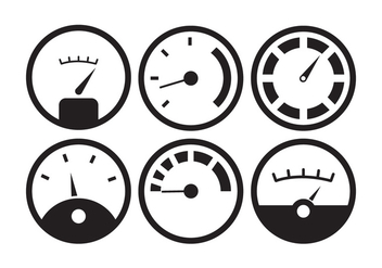 Vector Set of Fuel Gauge - Free vector #336607