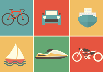 Transportation Vector Icons - Kostenloses vector #336687