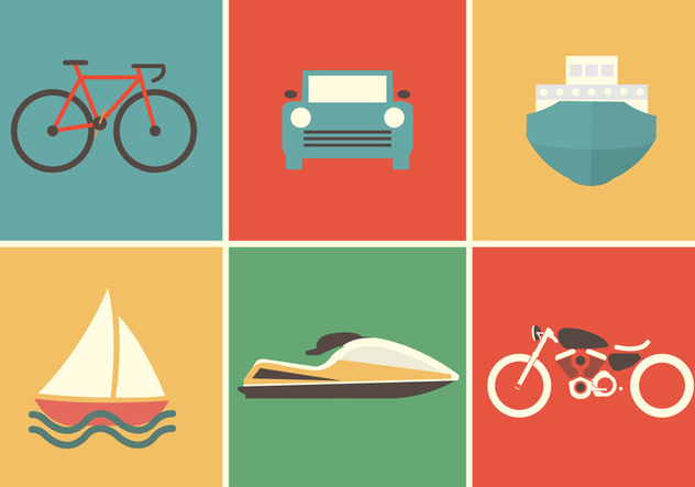Transportation Vector Icons - vector #336687 gratis