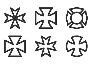 Vector Maltese Cross Icon Set - Free vector #336767