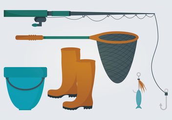 Fishing Vector Elements - Free vector #336857